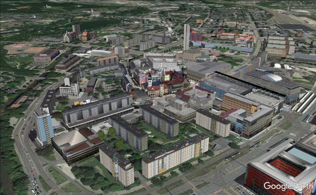 Chemnitz in Google Earth