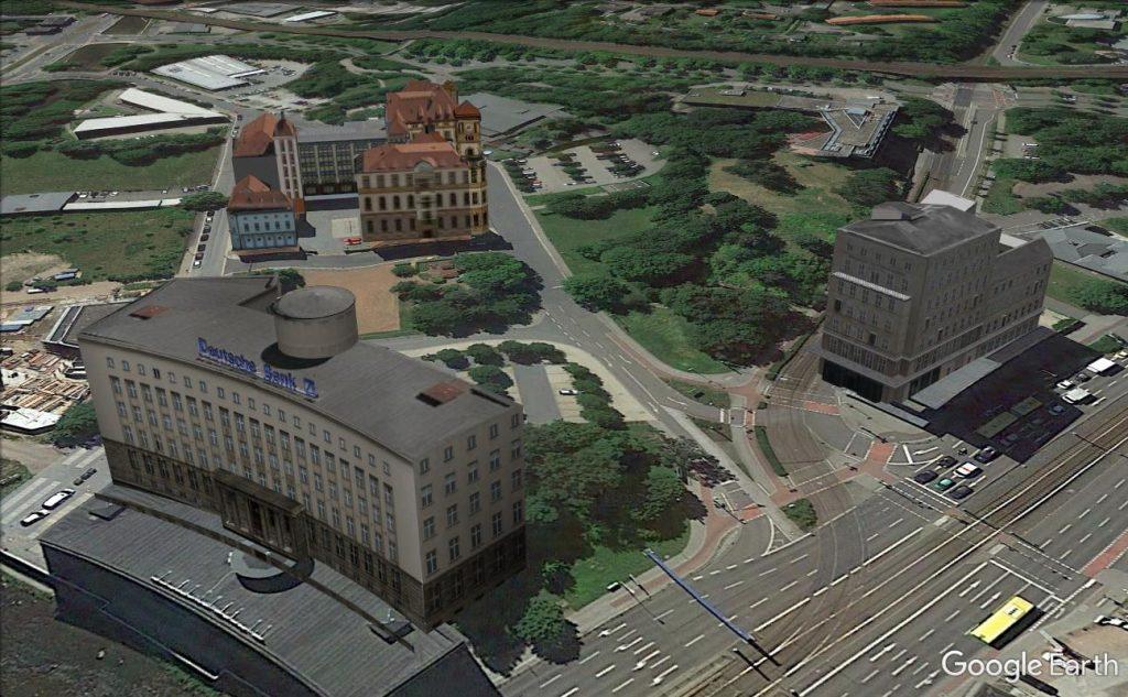 Gunzenhauser und Deutsche Bank in Google Earth