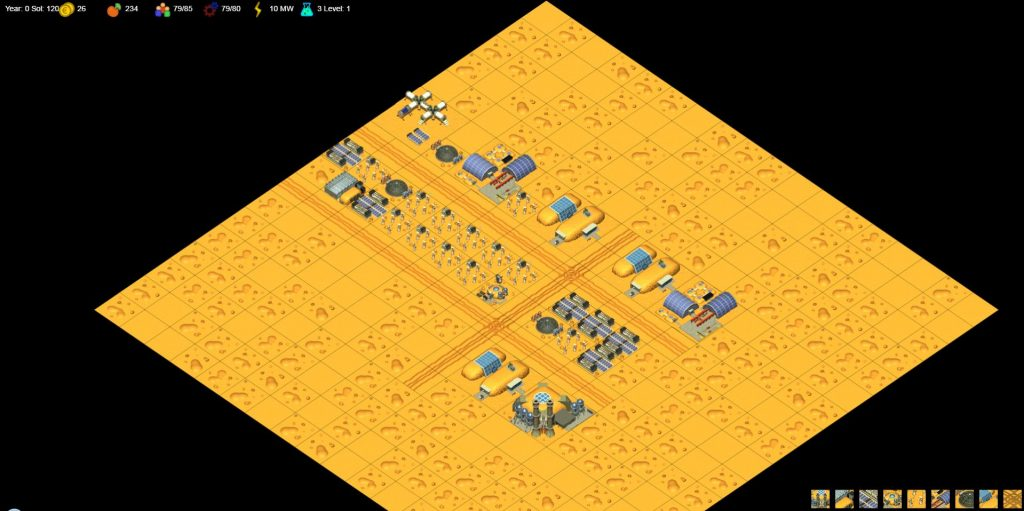 """1st Level of the game """"The Mars Exploration Online"""""""