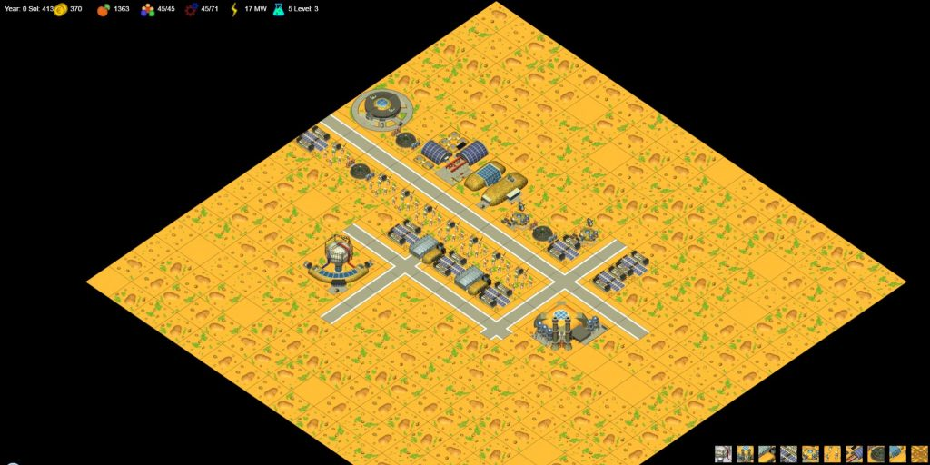 """3rd Level of the game """"The Mars Exploration Online"""""""