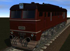 Rendering der Diesellok LTS M62