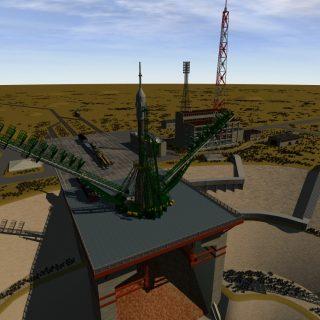 Sojus-Startrampe Baikonur