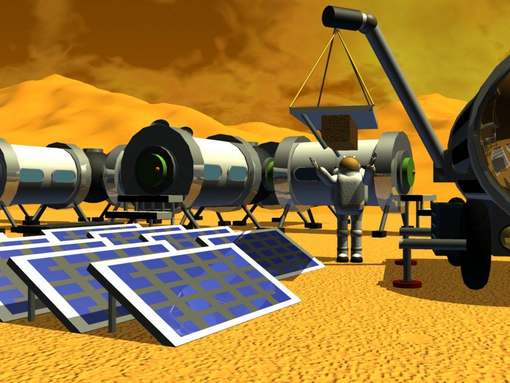 Bauarbeiten an der Marsstation