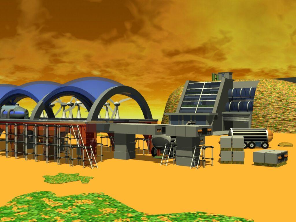 Arbeiten am 1. Marsbahnhof
