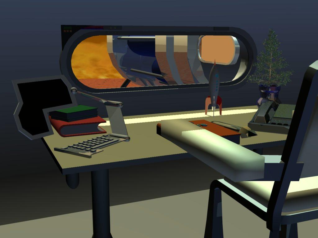 Büro in der ersten modularen Marsstation