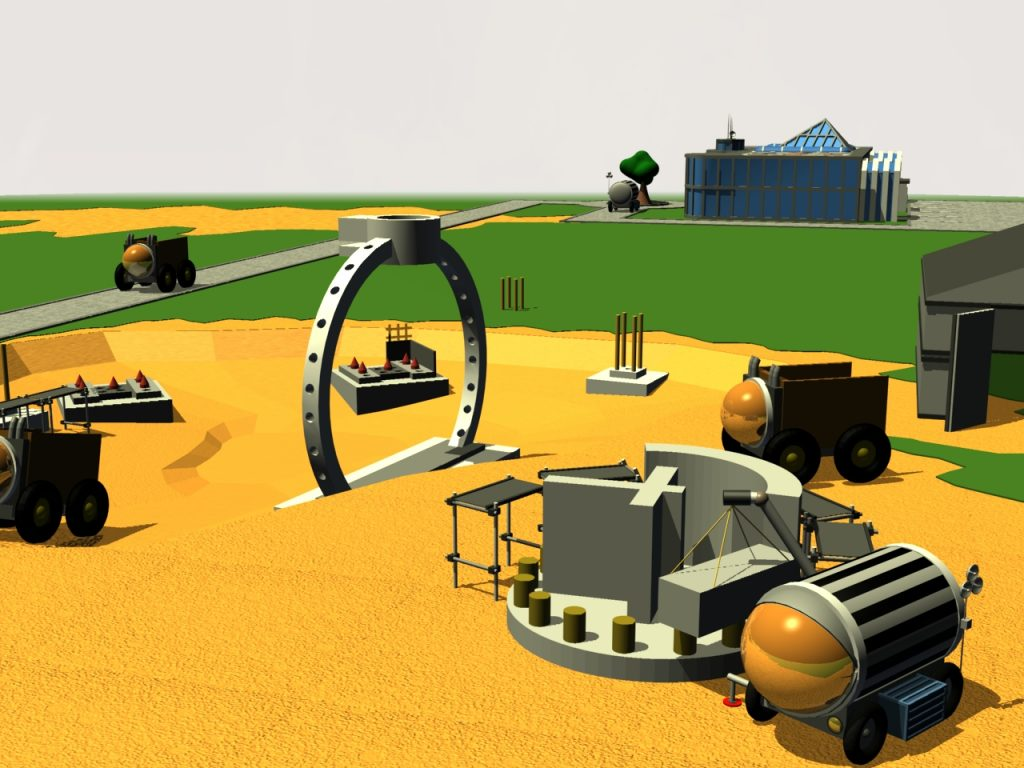 Baustelle Mars-Weltraumlift