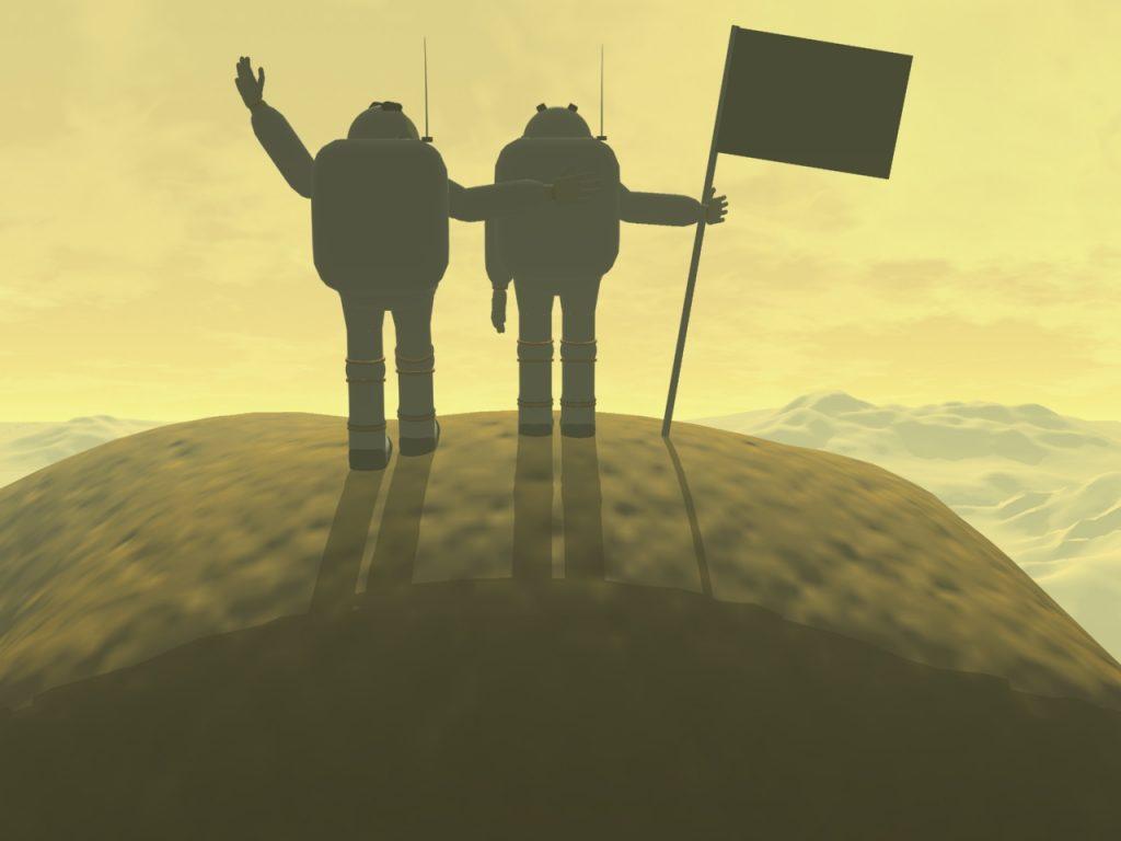 Gipfel des Olympus Mons